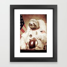 Sloth Astronaut Framed Art Print