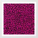 Pink Black Leopard Art Print