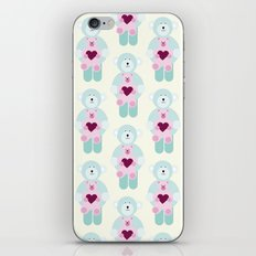 Hearts and bears iPhone & iPod Skin