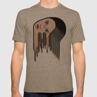 Flows Girl Mens Fitted Tee Tri-Coffee SMALL