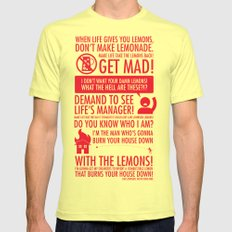 When Life Gives You Lemons Mens Fitted Tee Lemon SMALL
