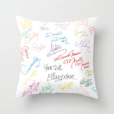 character autographs Throw Pillow
