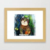 Sunny Cat Framed Art Print