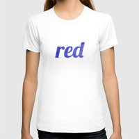 Red Womens Fitted Tee White SMALL