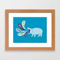 Hippopottymouth Framed Art Print
