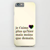 iPhone & iPod Case featuring je t'aime by Krysti Kalkman