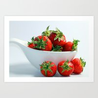 Strawberries are so sweet Art Print