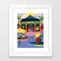 Water Village, Cambodia Framed Art Print