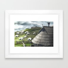 Ipad Sketch - Slovenia, 3. Framed Art Print