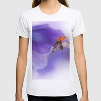 Ladybird On Violet Womens Fitted Tee Ash Grey SMALL