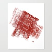 Red Robot! Canvas Print
