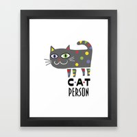 Cat Person Framed Art Print