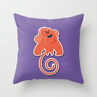 Angry moonkey  Throw Pillow