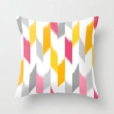 Ikat Stripes Throw Pillow