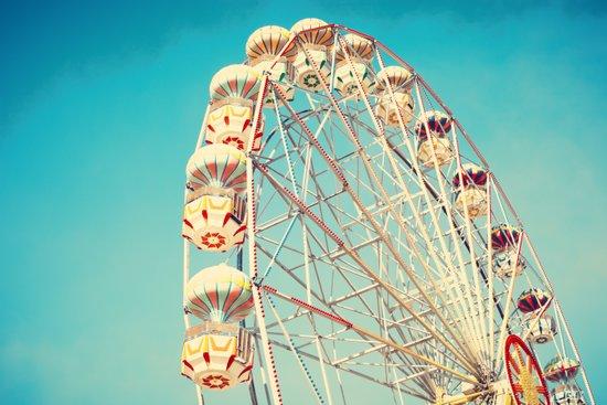 All Die Young, Ferris Wheel on Blue Sky Art Print
