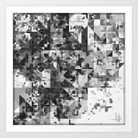 Zellige | 003 Monochrome Art Print