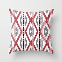 Ethnic rug pattern Throw Pillow