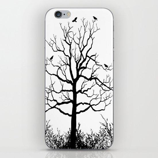 Graffiti Tree B/W iPhone & iPod Skin