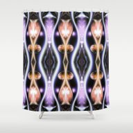 Space Blossoms Shower Curtain