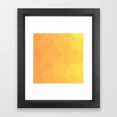 Abstract Geometric Gradient Pattern between Light Orange and Light Yellow Framed Art Print