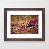Hidden (Little Deer) Framed Art Print