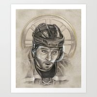 BRUINS: Patrice Bergeron (with Spoked B halo) Art Print