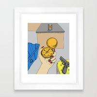 moral compass Framed Art Print
