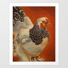 Delaware Hen Art Print