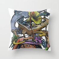 Crazy 4 Music - Mr.Klevr… Throw Pillow