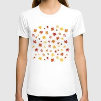 Autumn Pattern Womens Fitted Tee White SMALL