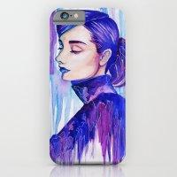 audrey hepburn iPhone & iPod Cases featuring Audrey Hepburn by VivianLohArts