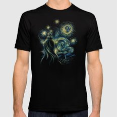 Death Starry Night SMALL Black Mens Fitted Tee