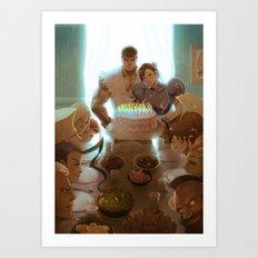Street Fighter 25th Anniversary tribute Art Print