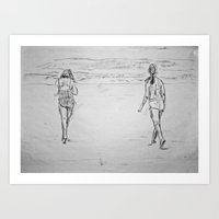 Beach Bums Art Print