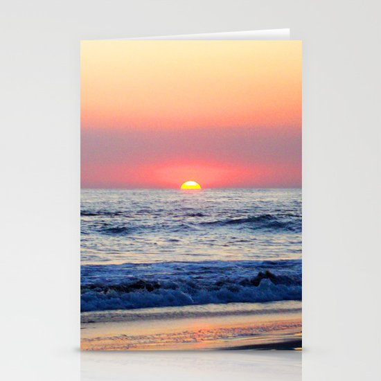 Sunset at Manuel Antonio Stationery Card