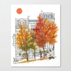 Autumn Cityscape Canvas Print