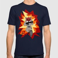 Fox Commando Mens Fitted Tee Navy SMALL