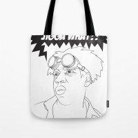 Black To The Future Tote Bag