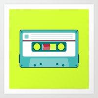 #54 Cassette Art Print
