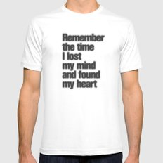 Remember The Time... Mens Fitted Tee White SMALL