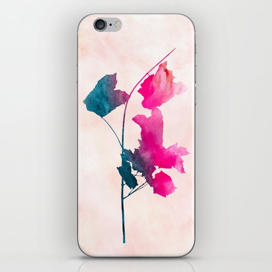 Maple_Watercolor 1 by Jacqueline & Garima iPhone & iPod Skin