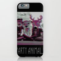 iPhone & iPod Case featuring party animals by cubik rubik