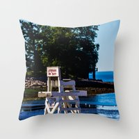 Life guard off duty - enjoy the beach Throw Pillow