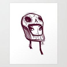 Skully Helmet Art Print