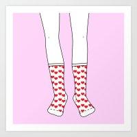 Sweetheart Socks Art Print