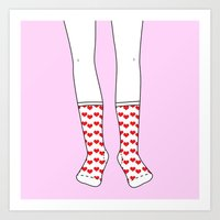Sweetheart Socks Art Print