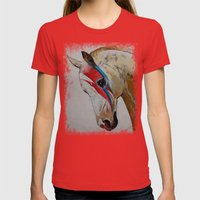 Rock Star Womens Fitted Tee Red SMALL