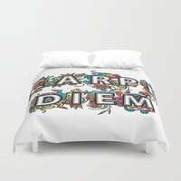 Carpe Diem Duvet Cover
