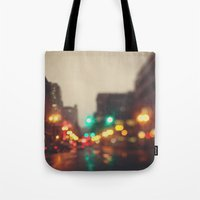 Portland In The Rain Tote Bag
