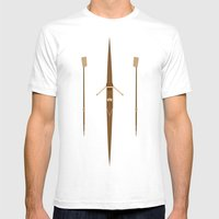rowing single scull Mens Fitted Tee White SMALL